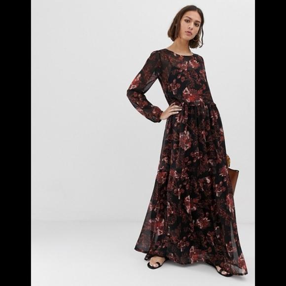 ICHI floral maxi dress